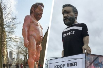 """Naakte reus die 21 jaar geleden Gent opschrikte, staat te koop: """"Jammer dat onze wegen scheiden"""""""