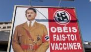 Franse president afgebeeld als Hitler, Macron neemt juridische stappen