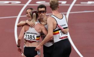 Belgische 4x400m gemengd wint reeks en plaatst zich met nationaal record voor finale