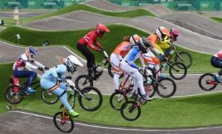 Elke Vanhoof gaat eruit in de halve finales van het BMX-toernooi