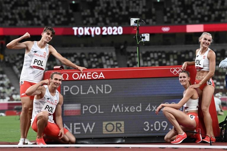 Geen medaille voor 4x400M mixed, Belgische ploeg eindigt als vijfde in nationaal record