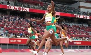 Thompson volgt zichzelf op als snelste vrouw op aarde en breekt record Griffith-Joyner, volledig Jamaicaans podium