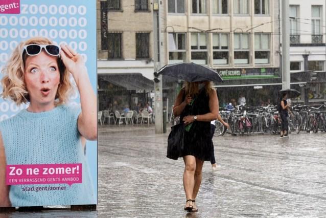 Blijft het zo'n zomer? Weekend vol felle buien in Gent