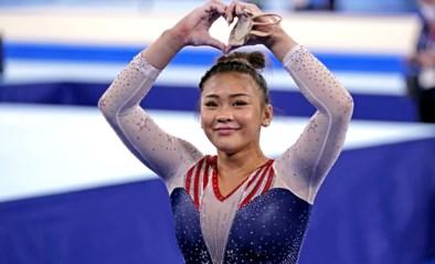 """Grote concurrente Sunisa Lee wordt 3de: """"Trots op mezelf en trots op Nina"""""""