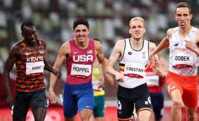 Eliott Crestan verbetert persoonlijk record op 800 meter, maar sneuvelt in sterke halve finale