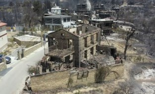 Drone toont ravage na bosbranden in Turkije