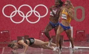 Stevige regenbui verstoort olympische atletiekavond