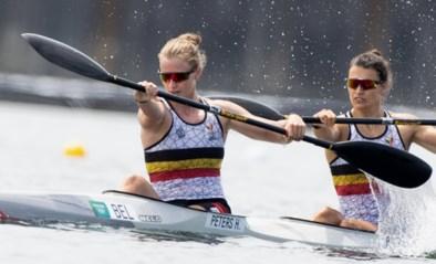Kajaksters Hermien Peters en Lize Broekx moeten ook opnieuw aan de slag in de kwartfinale op K2 500 meter
