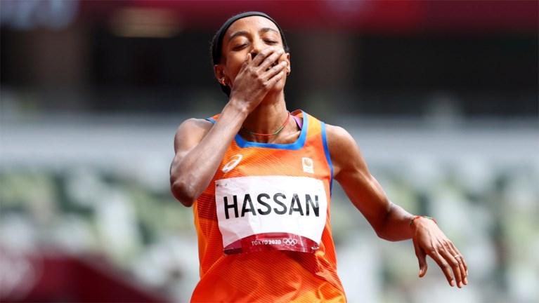Opvallend: Nederlandse topfavoriete Sifan Hassan valt op de 1500 meter, maar wint haar reeks toch na fantastische inhaalrace
