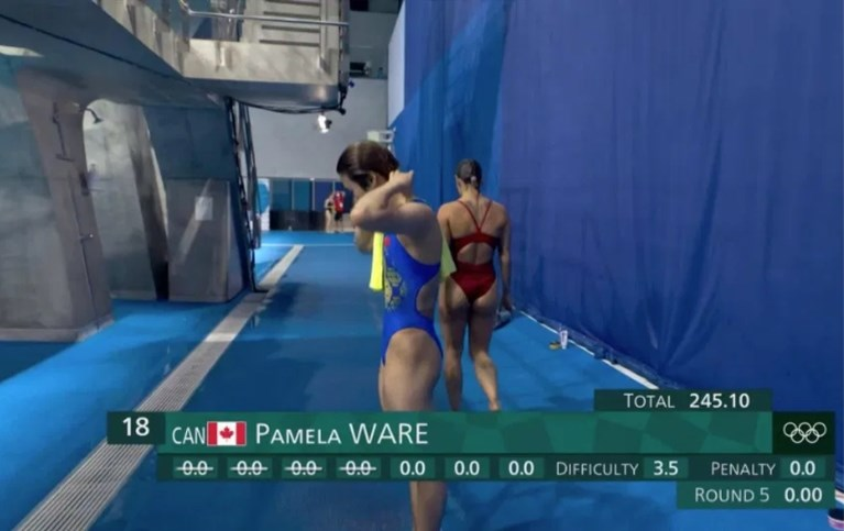 """Sprong van Canadese valt letterlijk in het water en zorgt voor zeldzame nulscore: """"Deze wedstrijd zal mij niet kraken"""""""