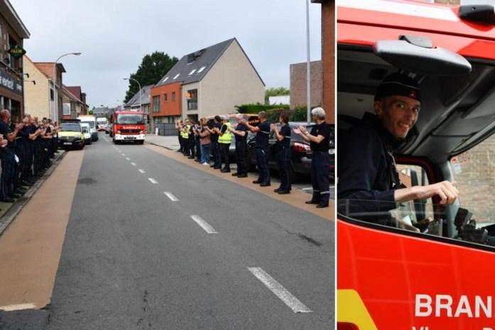"""Lennert (26) overlijdt dag nadat hij officieel in dienst trad bij brandweer: """"Gelukkig hebben we zijn laatste wens nog kunnen vervullen"""""""