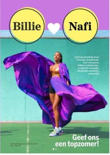 Nafi Thiam schittert in het goud en in het … paars!