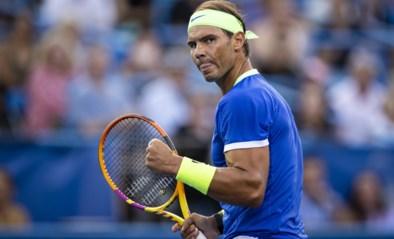 Rafael Nadal viert rentree met felbevochten zege tegen Jack Sock op ATP Washington
