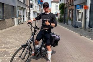 """Ultraloper Olivier moet op doktersbevel zijn marathonreeks staken, maar weigert op te geven: """"Op de fiets en desnoods met de camionette"""""""