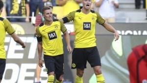 Sterke Haaland en scorende Thorgan Hazard loodsen Dortmund naar klinkende zege