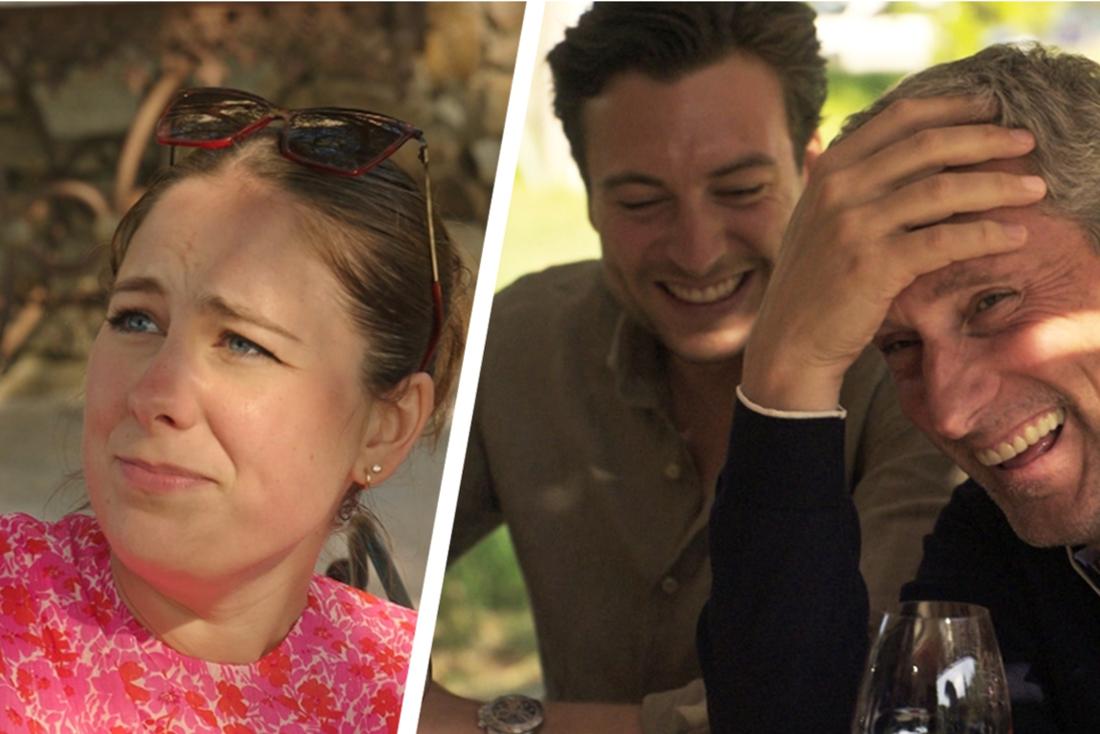Marie Verhulst boos op dronken Gert en Viktor na uit de hand gelopen wijnproeverij in 'De Verhulstjes Saint-Tropez'