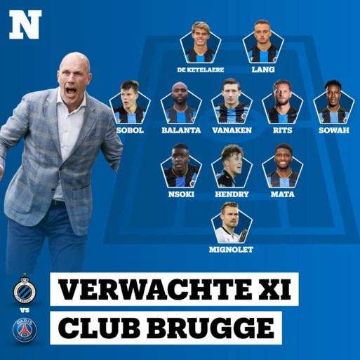 Start kapitein Ruud Vormer op de bank tegen PSG? Zo zien de vermoedelijke elftallen van Club Brugge en PSG eruit