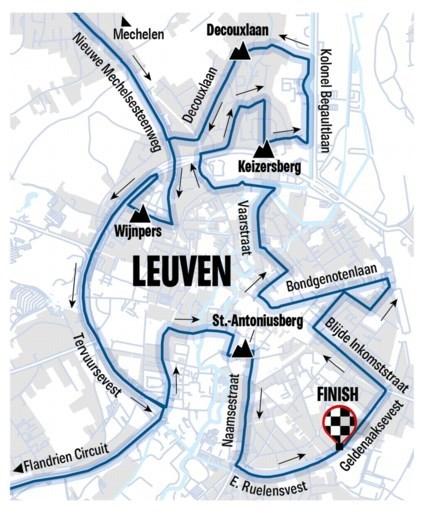 PARCOURS WK WIELRENNEN 2021. Van Antwerpen naar Leuven, met twéé lokale ronden en 42 hellingen: pittig!