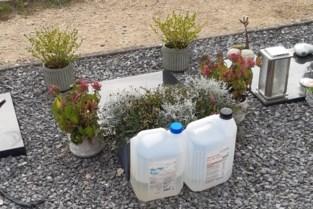 Groendienst verwijdert bidons op begraafplaats in Balen