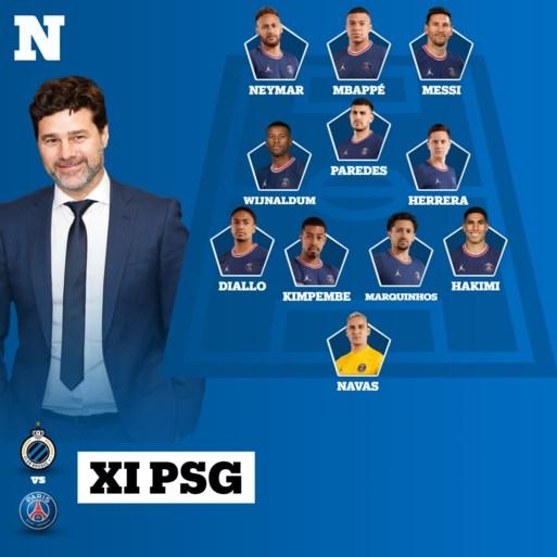 Club Brugge start zonder kapitein Ruud Vormer tegen PSG dat voor het eerst aantreedt met Messi, Neymar en Mbappé