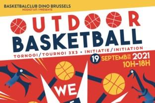 Basketbalclub Dino Brussels palmt straat in tijdens Autoloze Zondag