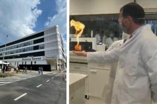 Wouter Beke speelt met vuur bij opening Science Tower UHasselt: walhalla voor nerds