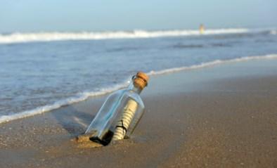 Flessenpost na 37 jaar en 6.000 kilometer verder teruggevonden door meisje (9)