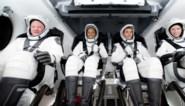 """SpaceX: Vier Amerikaanse ruimtetoeristen zijn """"gelukkig"""" en """"in goede gezondheid"""""""