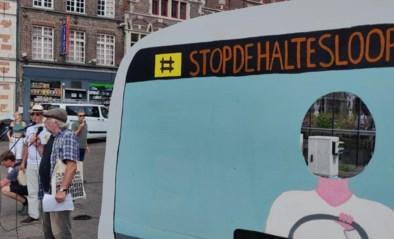 """Protest tegen plannen om in Gent 158 bushaltes te schrappen: """"De Lijn vindt ons te dik!"""""""