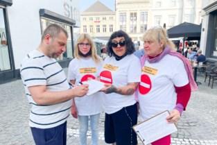 """Actiecomité verzamelt handtekeningen tegen circulatieplan op zaterdagmarkt: """"Al 5000 mensen tekenden, op naar referendum"""""""