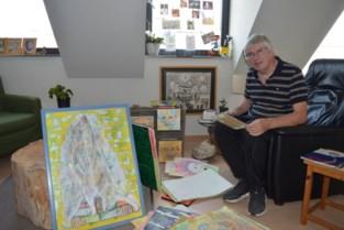 """Vier jaar geleden beginnen schilderen, nu stelt Johan (67) tentoon: """"Wat ik niet onder woorden krijg, krijg ik wel overgebracht via beeld"""""""