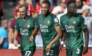 """Cyriel Dessers krijgt bierdouche na eerste doelpunt voor Feyenoord: """"Dit zegt genoeg, denk ik"""""""