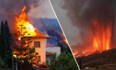Beelden tonen hoe huis verteerd wordt door lava na grote vulkaanuitbarsting op La Palma: al 5.000 mensen geëvacueerd