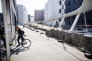 Afwerking fietshelling Parkbrug loopt vertraging op