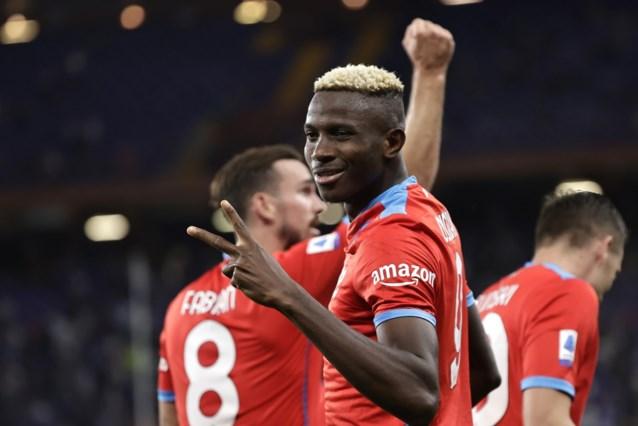 Napoli blijft het doen zonder Dries Mertens: Victor Osimhen (ex-Charleroi) is man van de match met twee goals