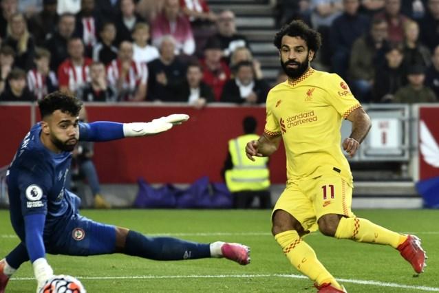 Salah scoort honderdste competitiedoelpunt, maar Liverpool moet vrede nemen met gelijkspel na doelpuntenkermis