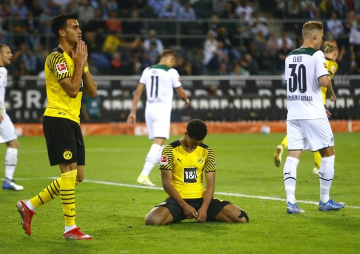 Geen Haaland, geen feestje: Gladbach is te sterk voor tienkoppig Borussia Dortmund, waar drie Rode Duivels nog eens samen op het veld staan